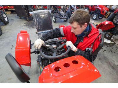 Техническое обслуживание ременного мини-трактора